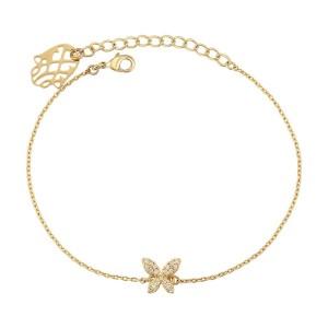 Gold Plated Butterfly Bracelet