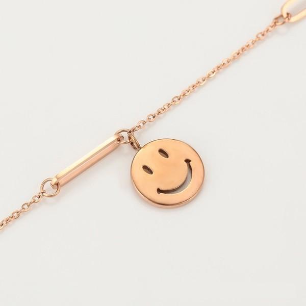 Gold Plated Smiley Bracelet