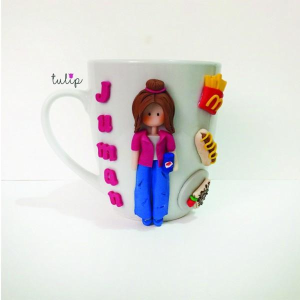 Burger Girl Mug