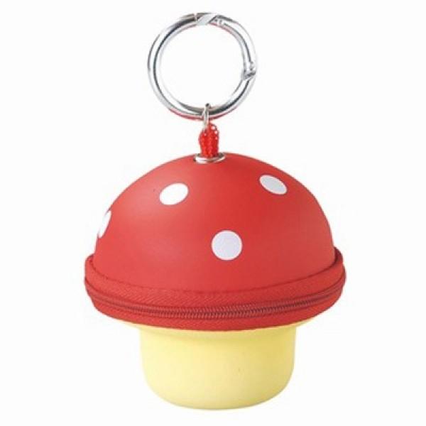 Mushroom Key & Wallet-Red