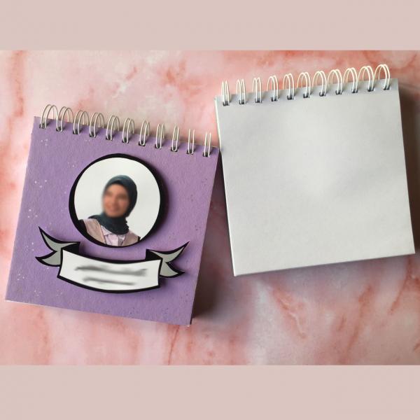 Customizable Purple Notebook - White Blank