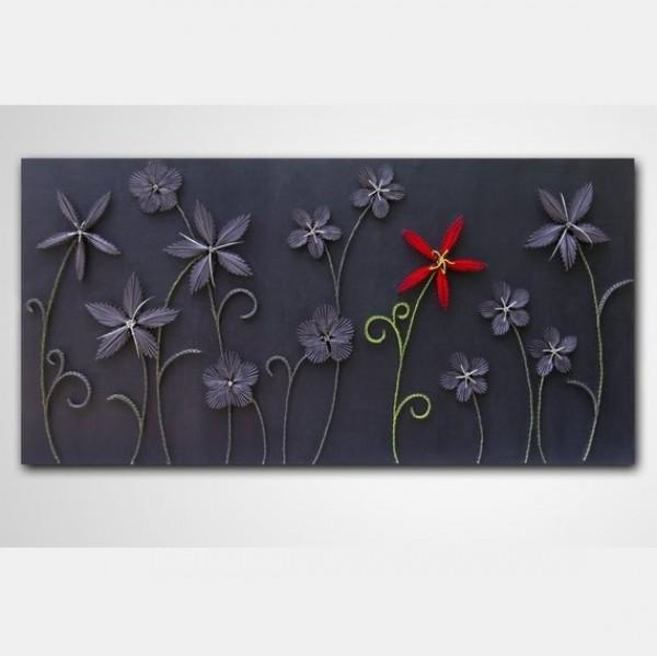 Handmade Flowers Wall Art