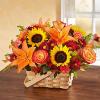 Autumn Flowers Bouquet in a Basket