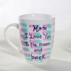 I Love You Mom Hand-Painted Mug