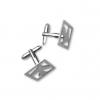 Silver Plated Airplane Cufflinks Set