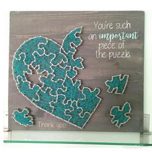 Handmade Heart Puzzle Wall Art