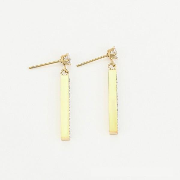 Gold Plated Bar Earrings