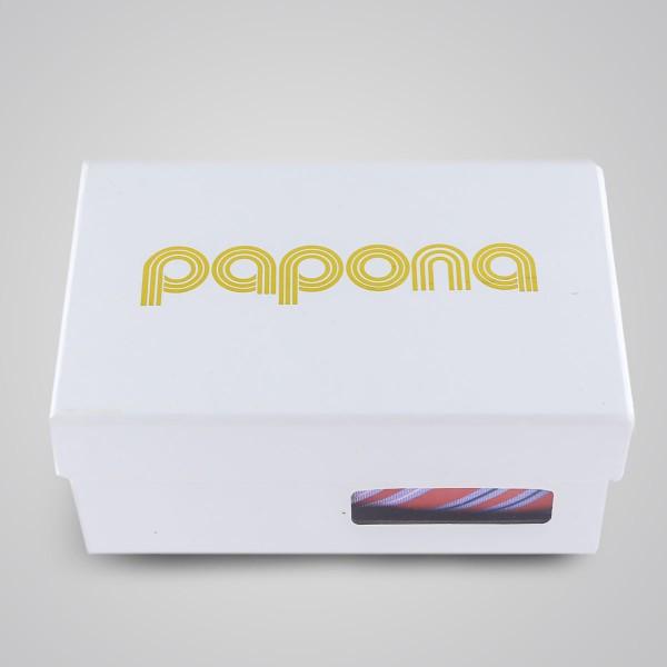 papona Striped Necktie Set - Red & Blue