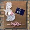Customizable Handmade Pregnant Lady Wall Art