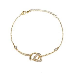 Gold Plated Heart & Ring Bracelet