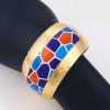 Mosaic Gold Plated Bangle