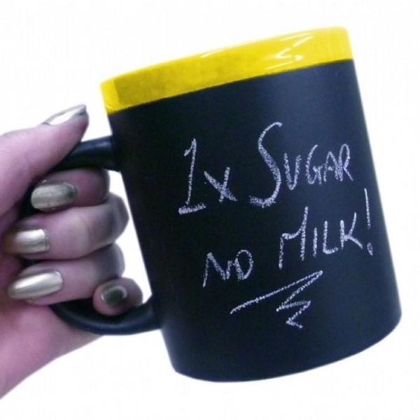 Memo Mug with Chalk-Yellow