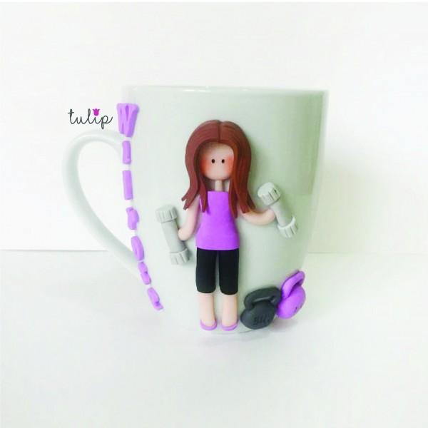 Gym Girl Mug-Light