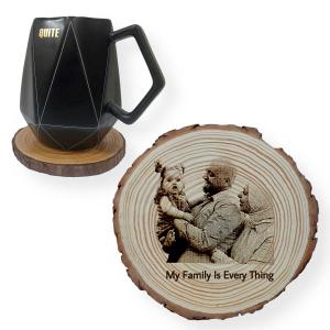 Photo Engraved Tree Slice Coaster