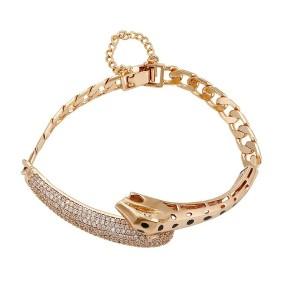 Gold Plated Snake Bracelet