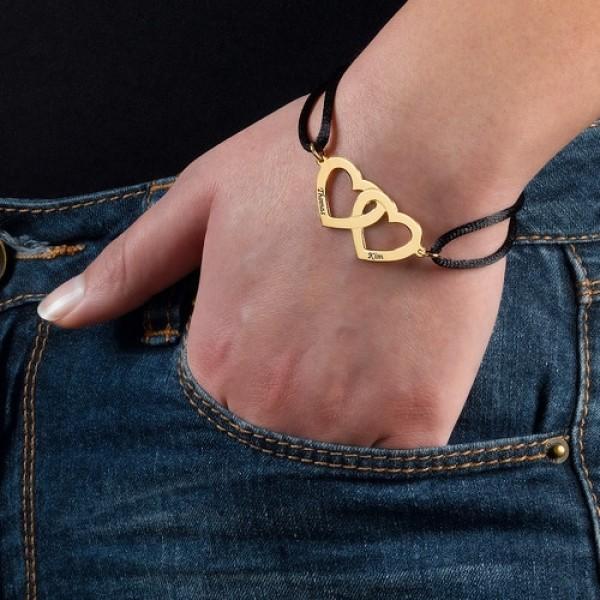 Gold Plated Nested Hearts Bracelet