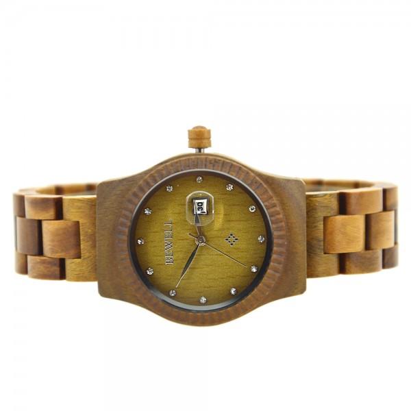 Ladies' Natural Wood Watch - Green