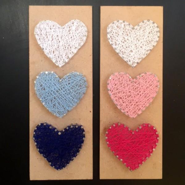 3 Hearts Wall Art