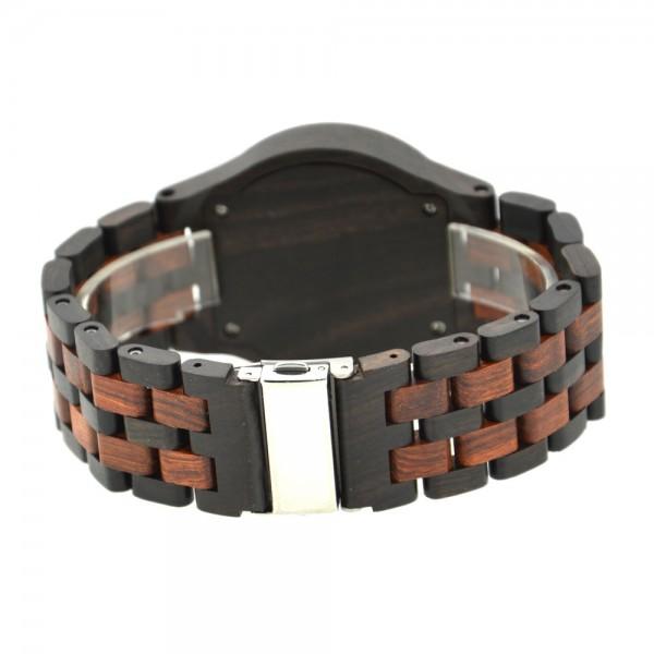 Men's Natural Wood Watch - Brown & Black