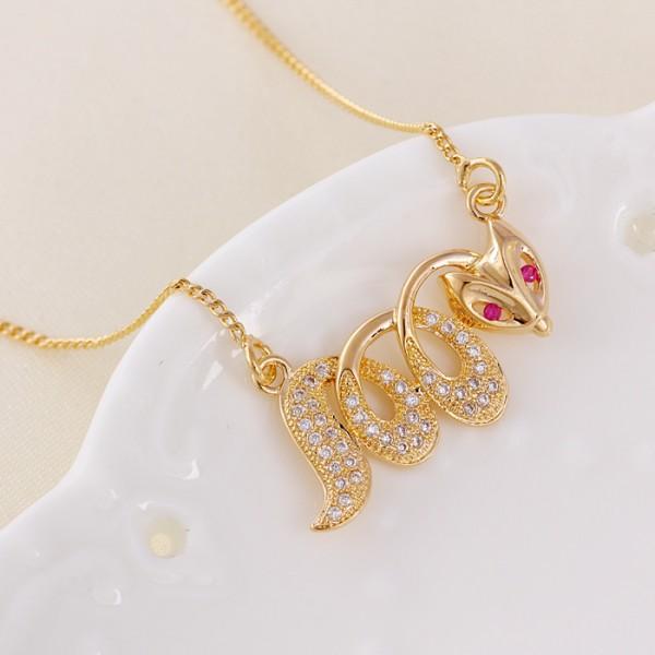 Red-Eyed Snake Necklace