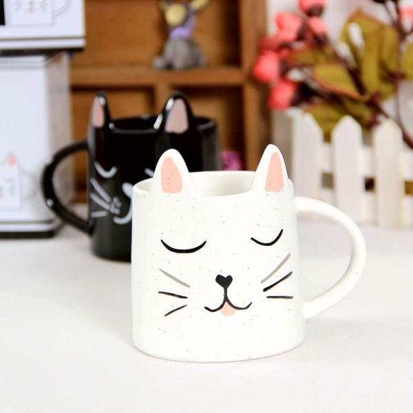 Cat Mug-White