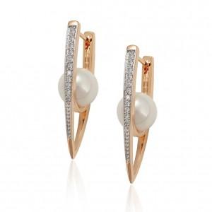 Gold Plated Elegant Earrings