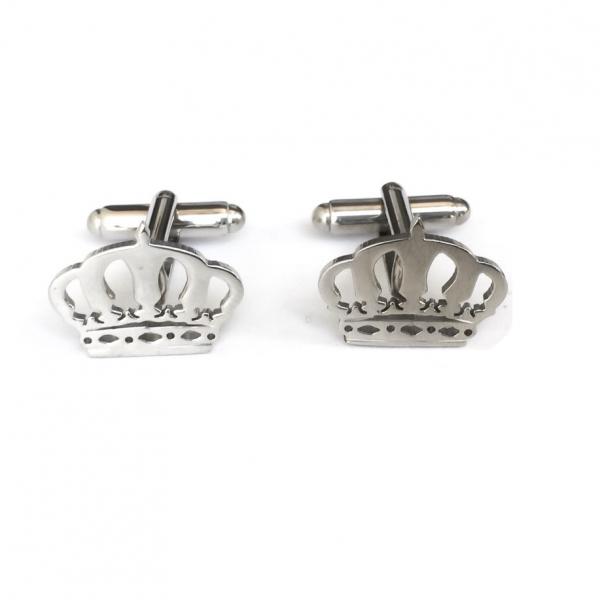 Crown Silver Plated Cufflinks Set