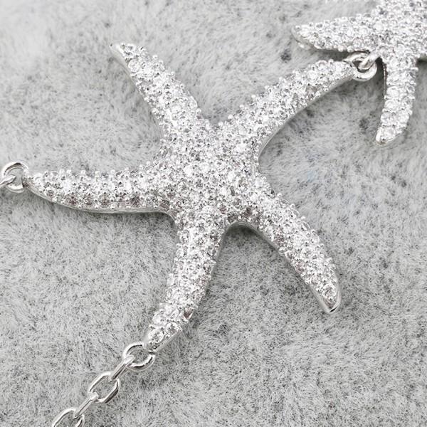 Rhodium Plated Crystal Stars Bracelet