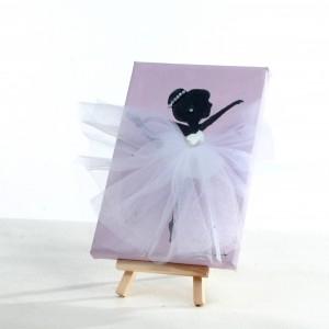 Ballerina Painting - White