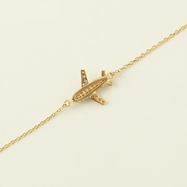 Gold Plated Plane Bracelet