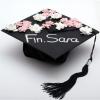 Floral Hand-Designed Graduation Cap