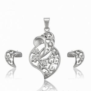 Flowers Necklace & Earrings Set