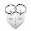 Broken Heart Keychain