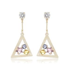 Mutlicolored Crystal Earrings