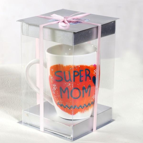 Super Mom Hand-Painted Mug