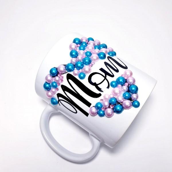 Crystals Encrusted Mom Mug