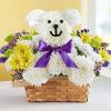 Bear Flowers Arrangement in a Basket