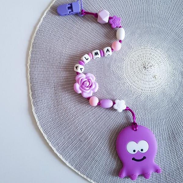 Octopus Teether - Purple