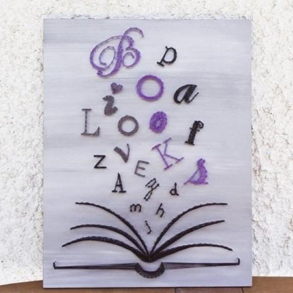 Handmade Book Wall Art