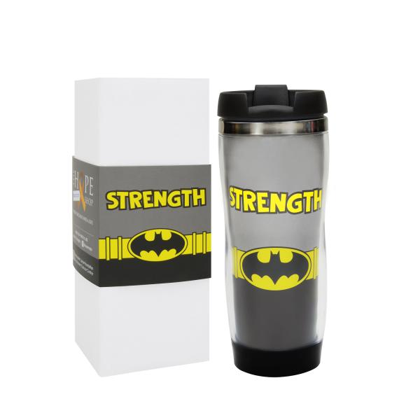 """Batman """"Strength"""" Travel Mug"""