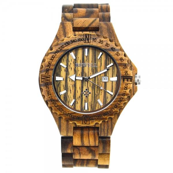 Men's Natural Wood Watch - Light Brown
