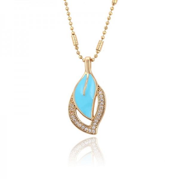 Blue Leaf Pendant