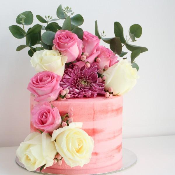 Flowers Bouquet Cake