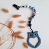 Owl Teether - Slate Blue