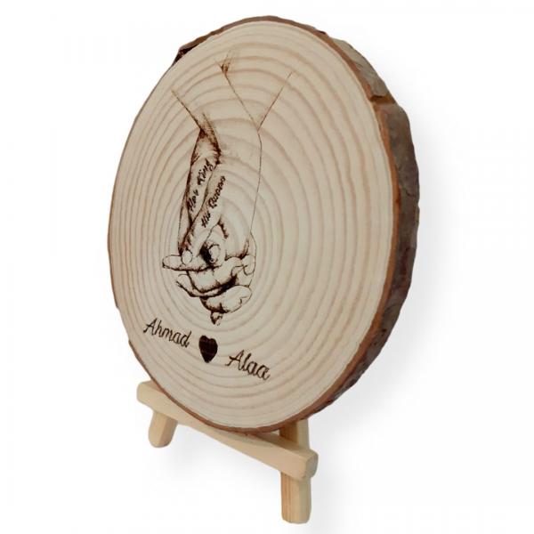 Couple Tree Engraved Slice