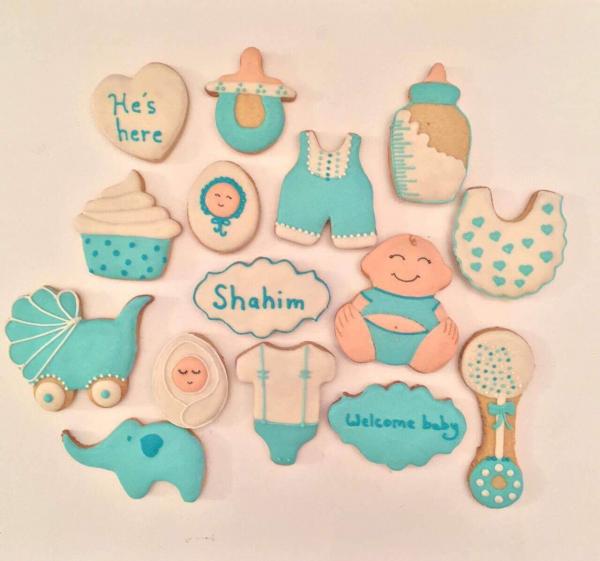 Newborn Cookies - Blue