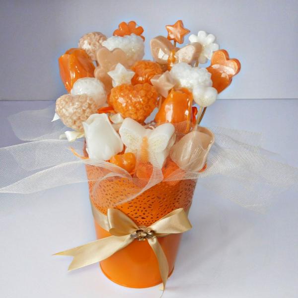 Bouquet of Handmade Soap Collection - Orange