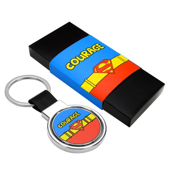 "Superman ""Courage"" Keychain"