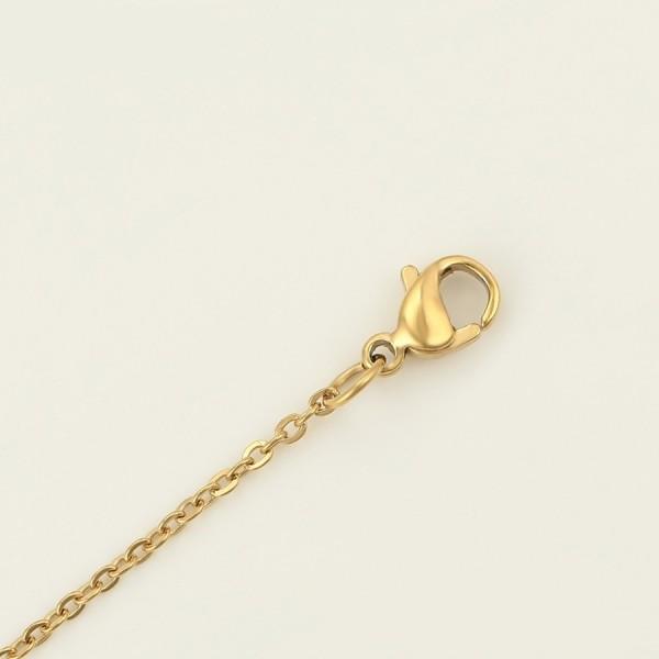 Gold Plated Heart Necklace & Bracelet Set