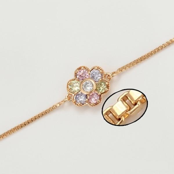Gold Plated Flower Bracelet